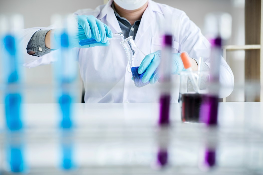 Scientist working at the laboratory on research for clinical validations